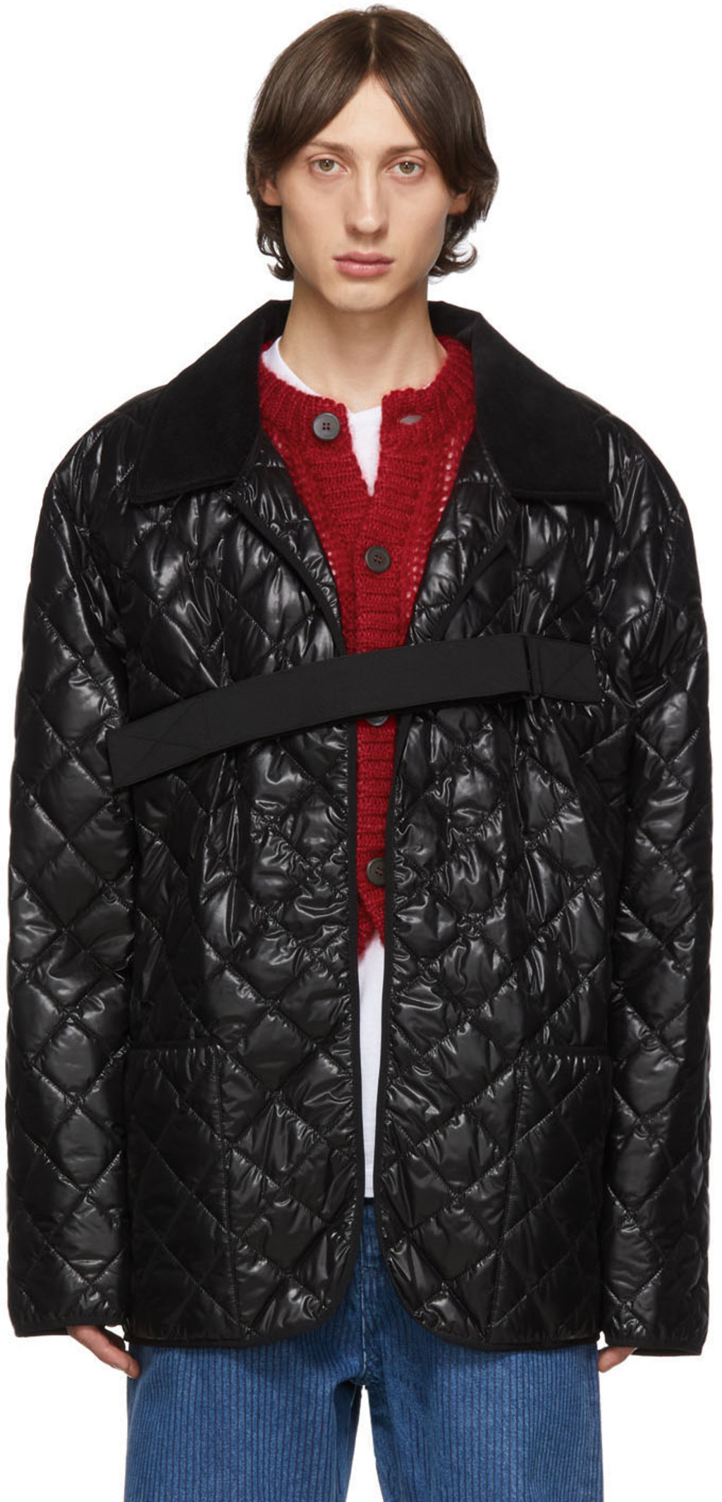 1ae682b83 Black Quilted Glossy Coat