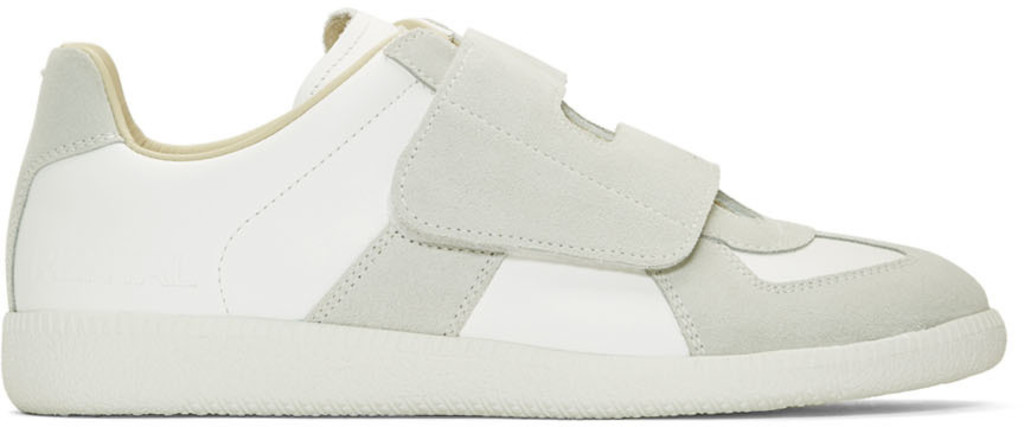 e57c283ec5f White & Grey Replica Bowling Sneakers