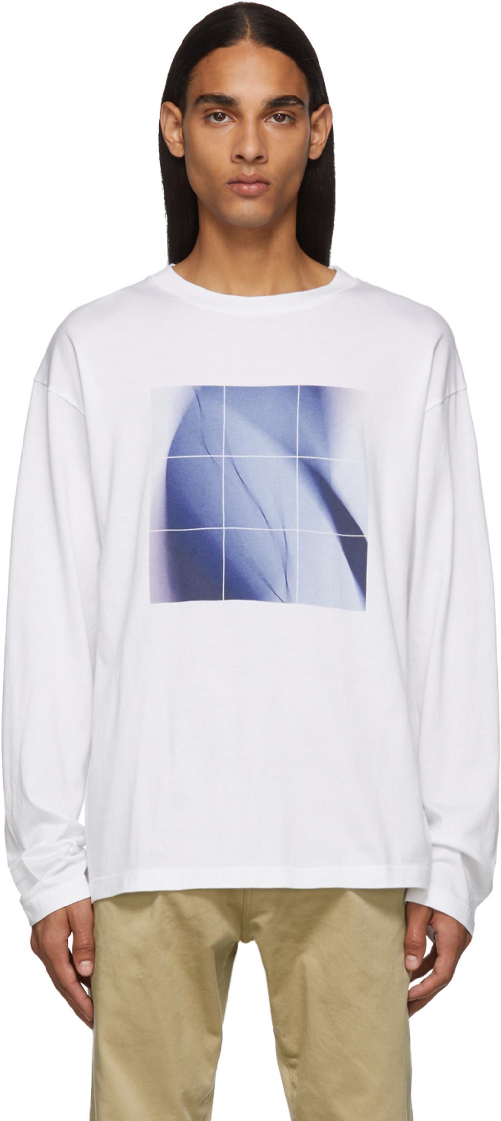 d9110d16c3 White & Blue Graphic Long Sleeve T-Shirt