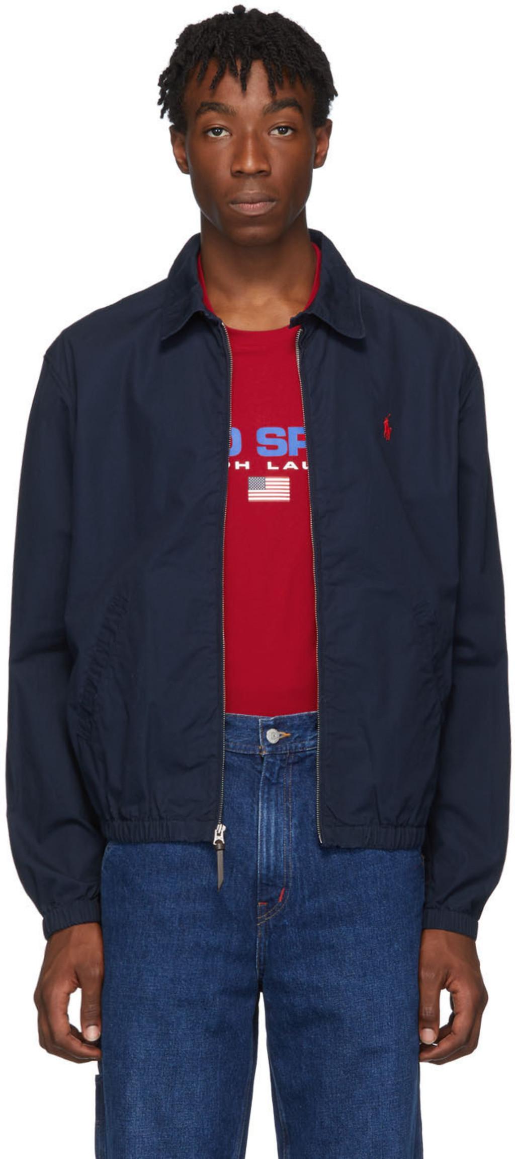 c48242ac6f Navy Bayport Windbreaker Jacket