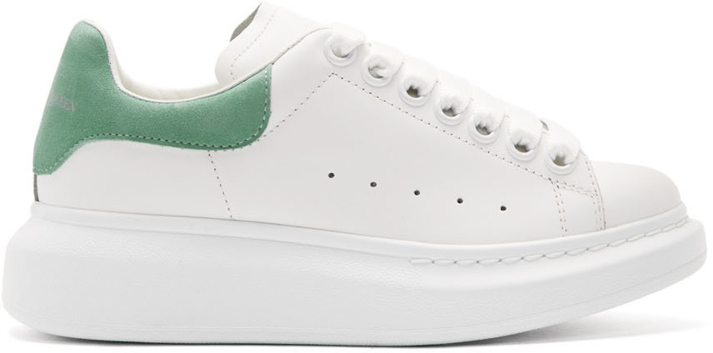 White & Green Oversized Sneakers