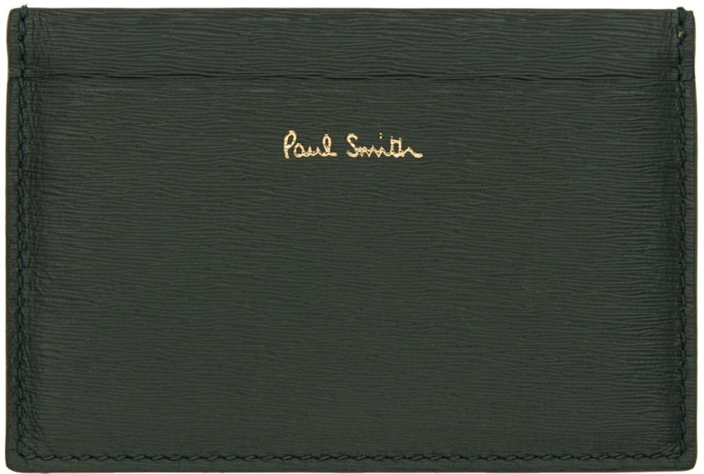 639f11adb8e4c Green & Yellow Straw Grained Card Holder