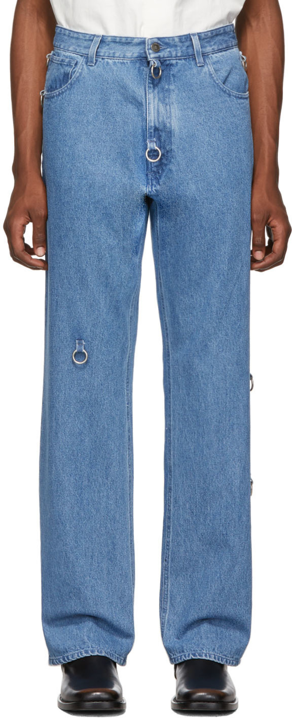 7c94d11e6a4 Blue Relaxed-Fit Jeans