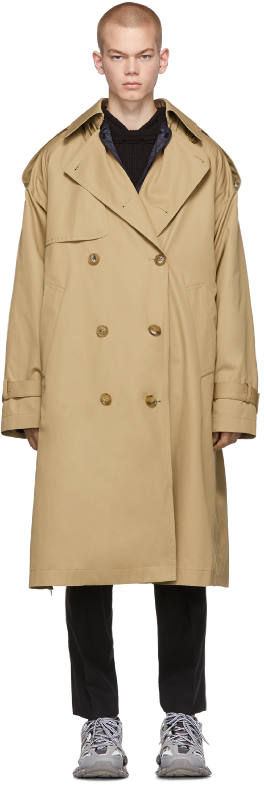 info for f0223 bf9a4 Beige Oversized Trench Coat