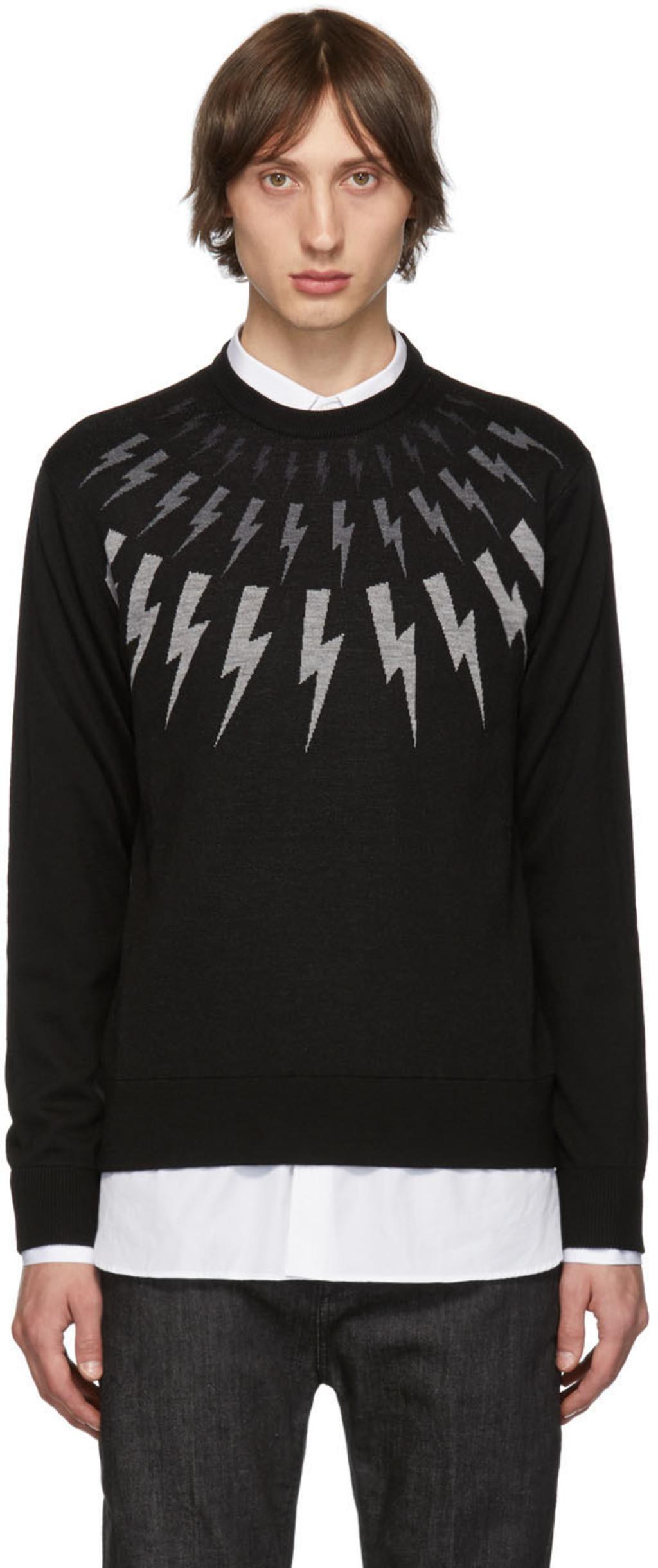 bf541abdc Black Multi Lightning Bolt Sweater