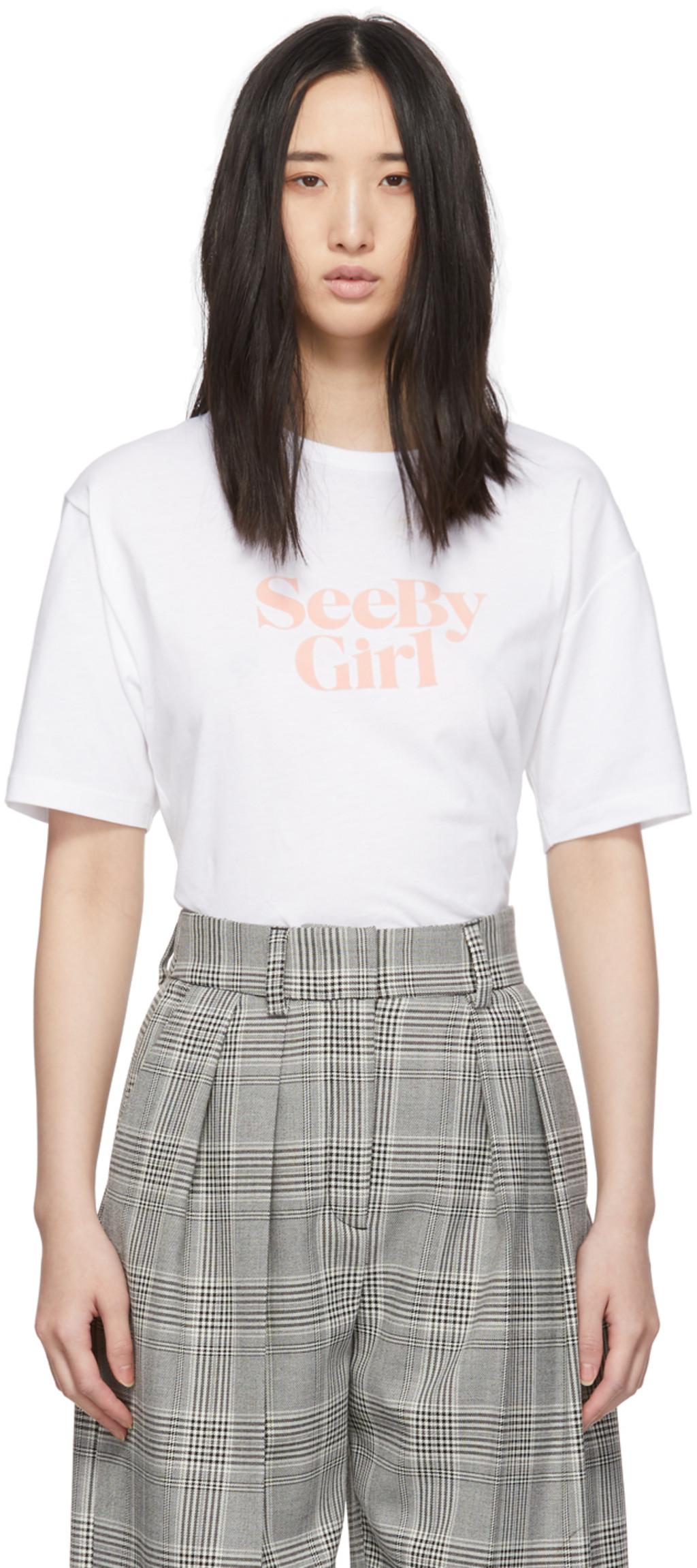 10e17e4425 White 'See By Girl' T-Shirt