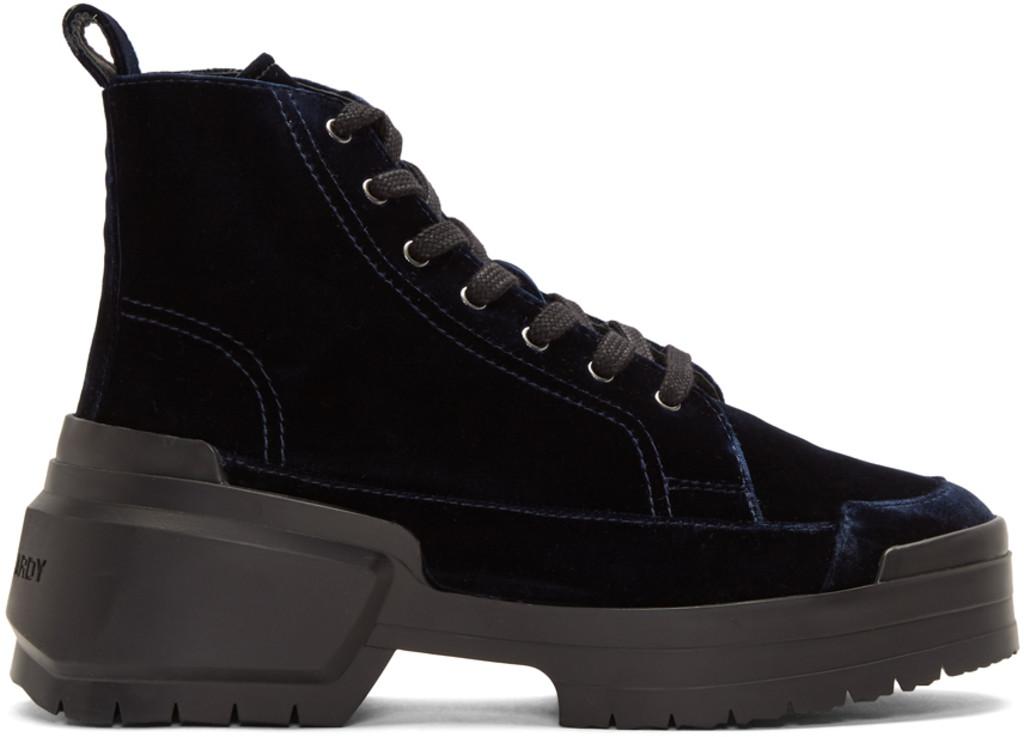 fd222d86b98 Navy Velvet Rangers Boots
