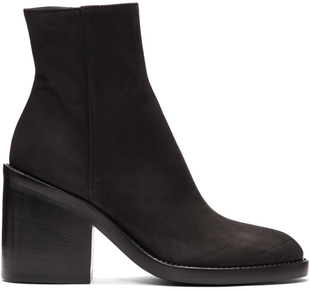 73989fd6541 SSENSE Exclusive Black Nubuck Boots