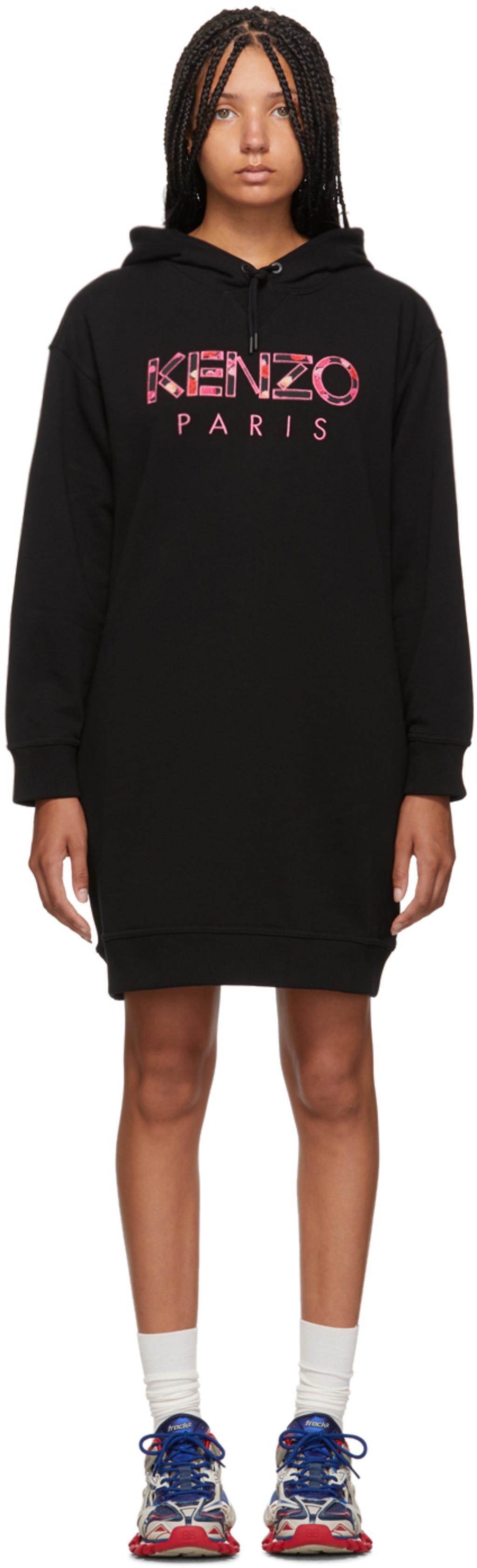 6d51164b88 Black 'Kenzo Paris' Peony Sweatshirt Dress