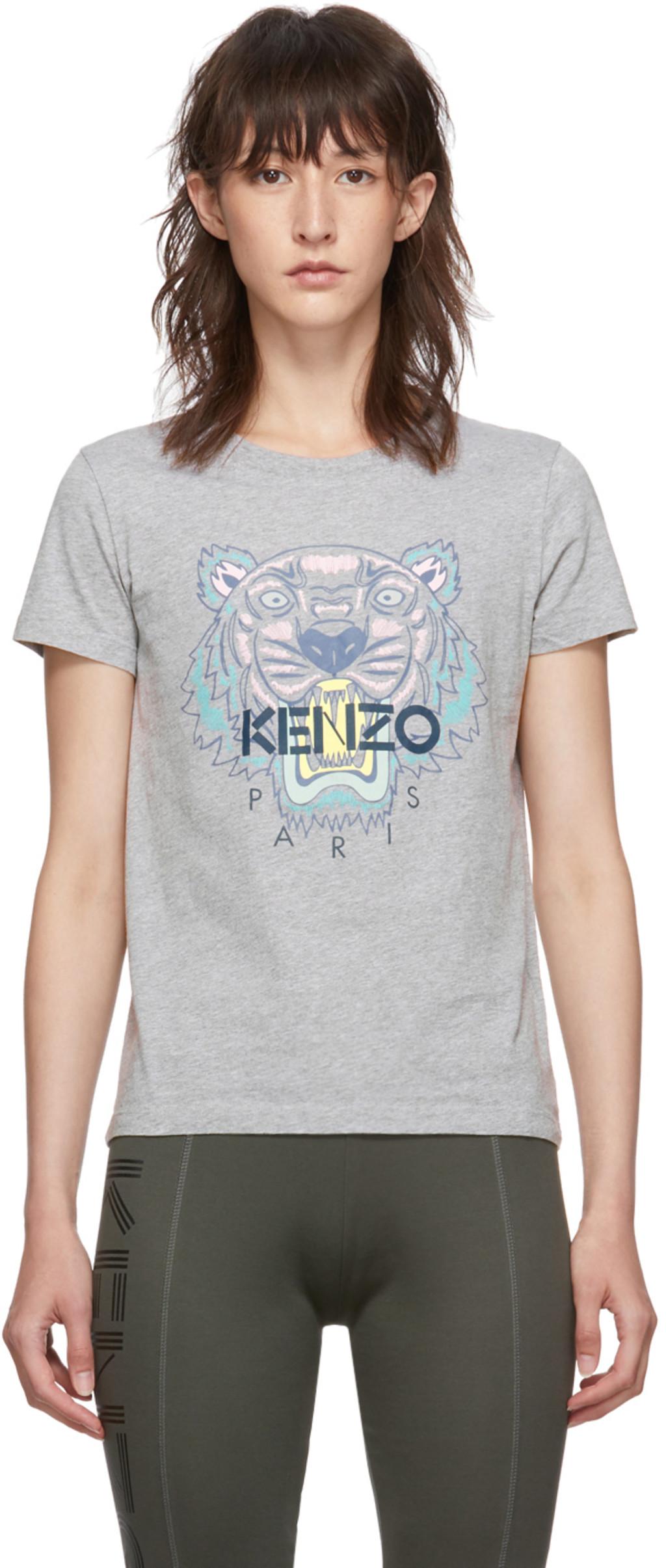 decb1aea8 T-shirt gris Classic Tiger Head