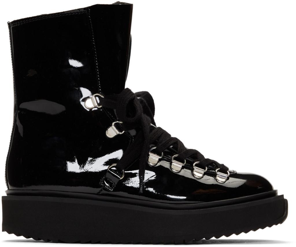 5702d874b8 Black Patent Alaska Boots
