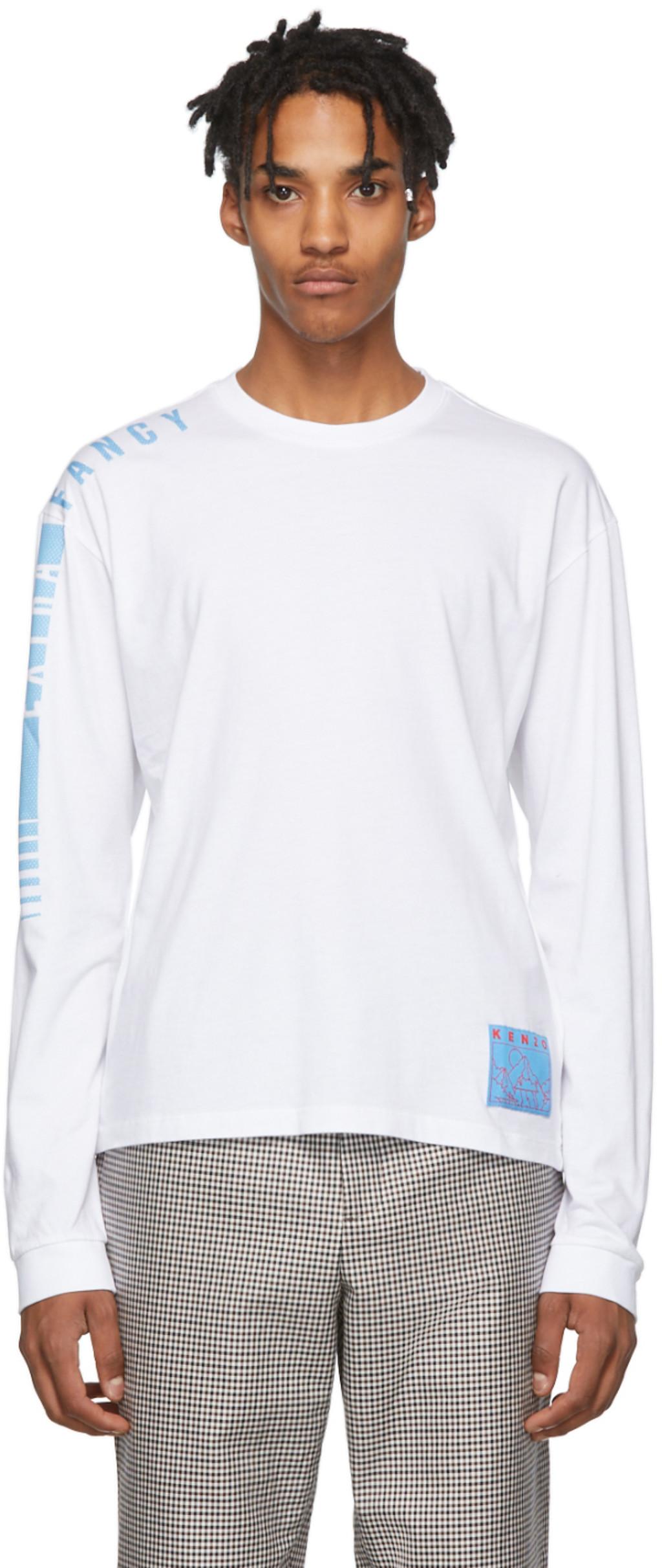 b405c917 White 'Extra Fancy' Long Sleeve T-Shirt