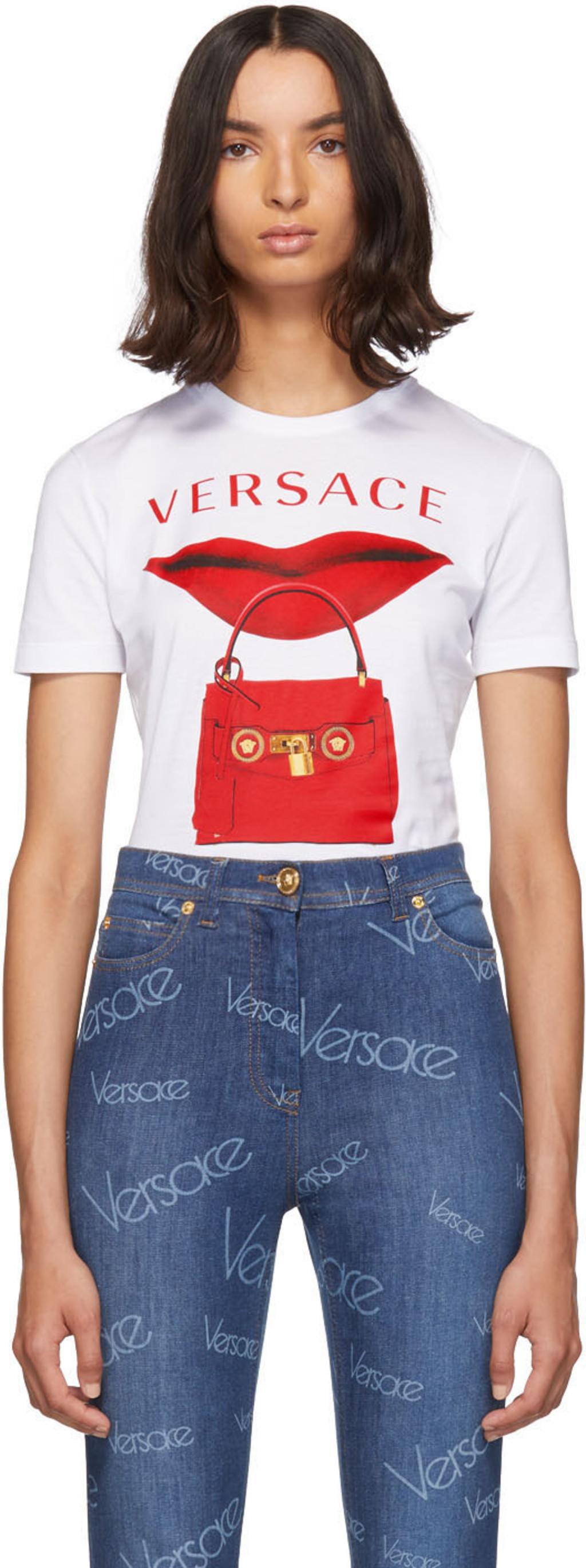 80a915ff9e White Lip Bag T-Shirt