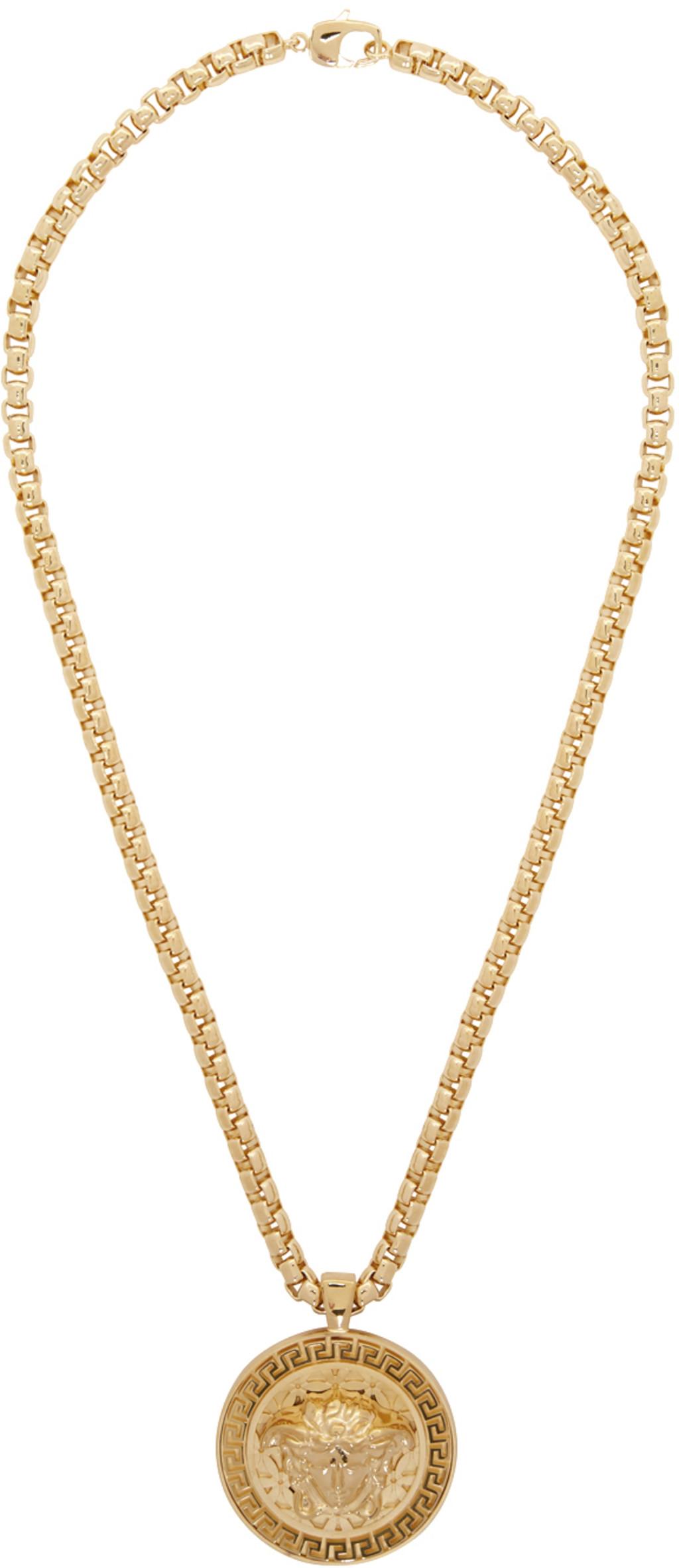 bc125c7778df3 Gold Medusa Necklace