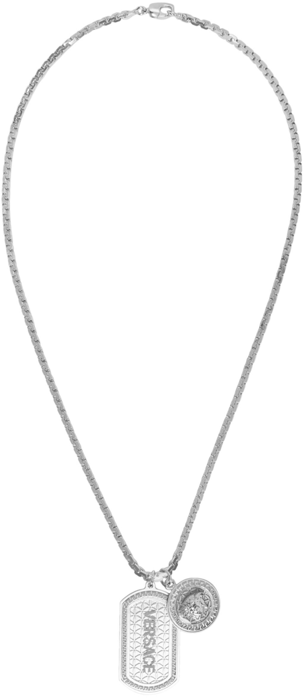 d3121082a8801 Silver Logo Dogtag Necklace