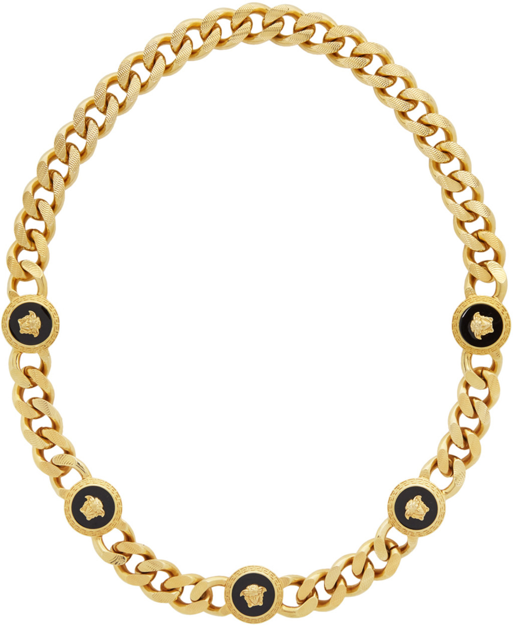5dc051a2378c2 Gold Resin Medusa Chain Necklace