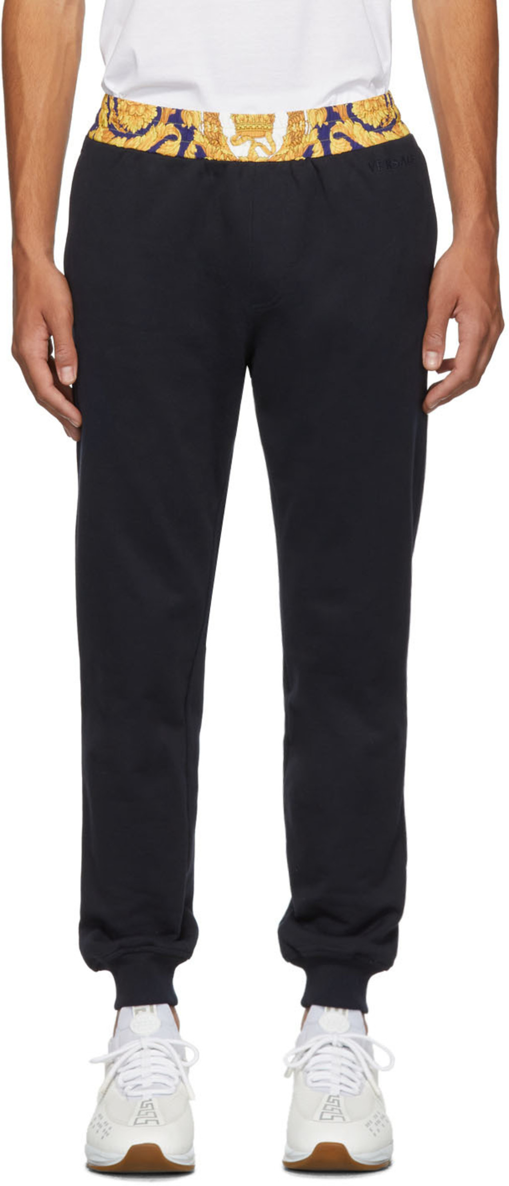 a36169f8a0 Navy Barocco Border Lounge Pants