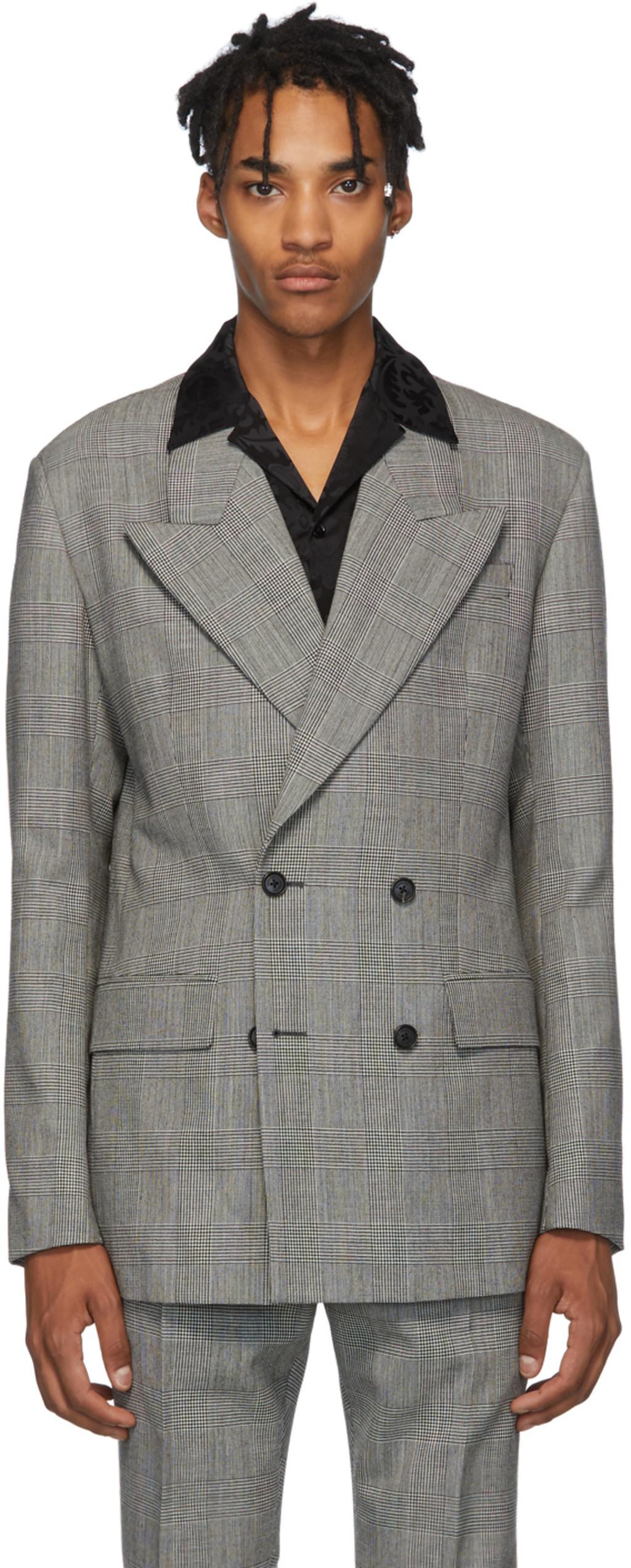 c52f787322 Black & White Double Breasted Blazer