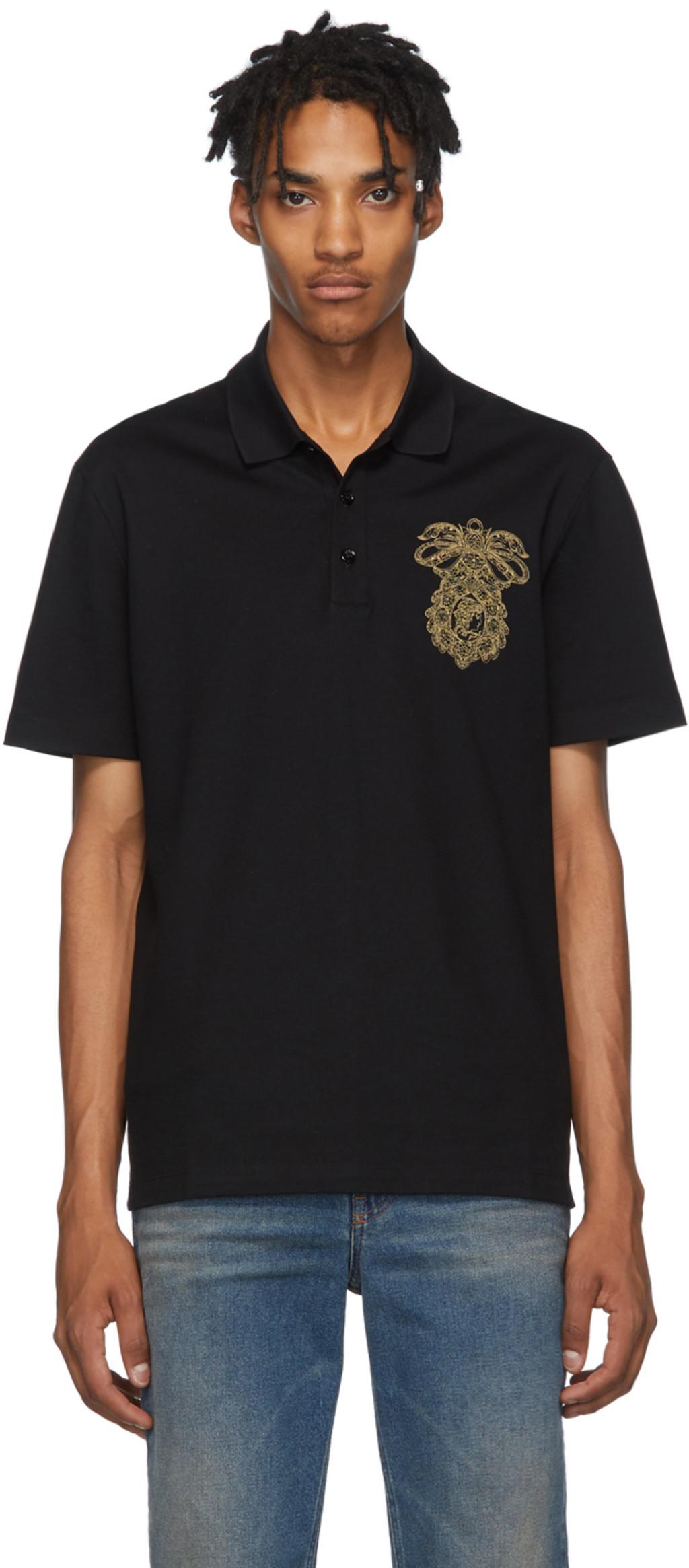 0c27dac7 Black Chest Crest Polo