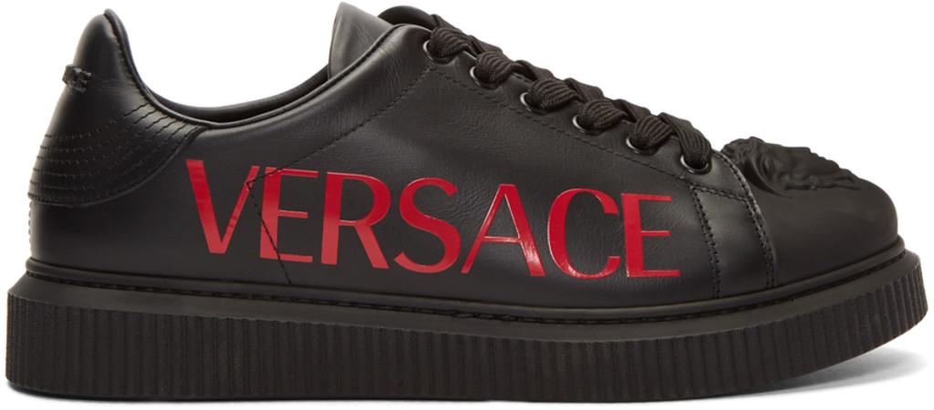 5dc07b0d Black 3D Medusa Head Sneakers