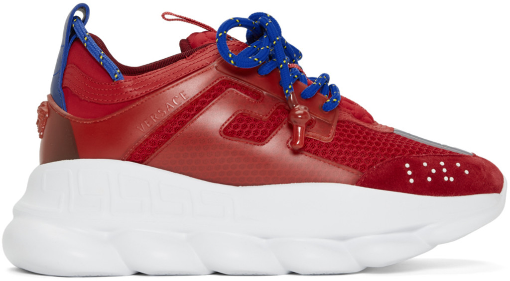 caa7d2f9253 Red Chain Reaction Sneakers