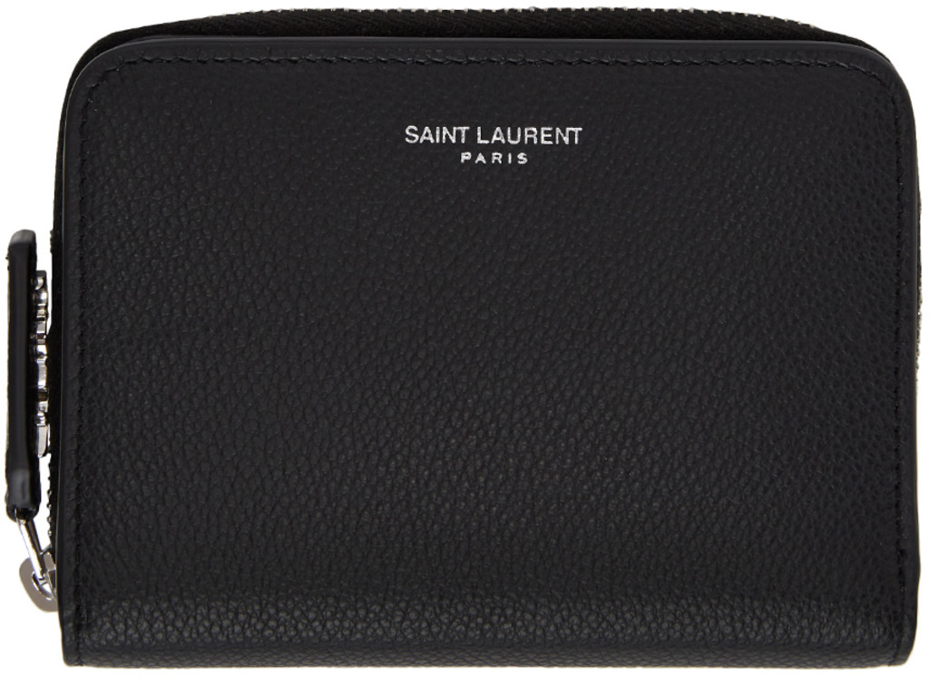 9a4ea08238 Black Compact Zip Around Wallet