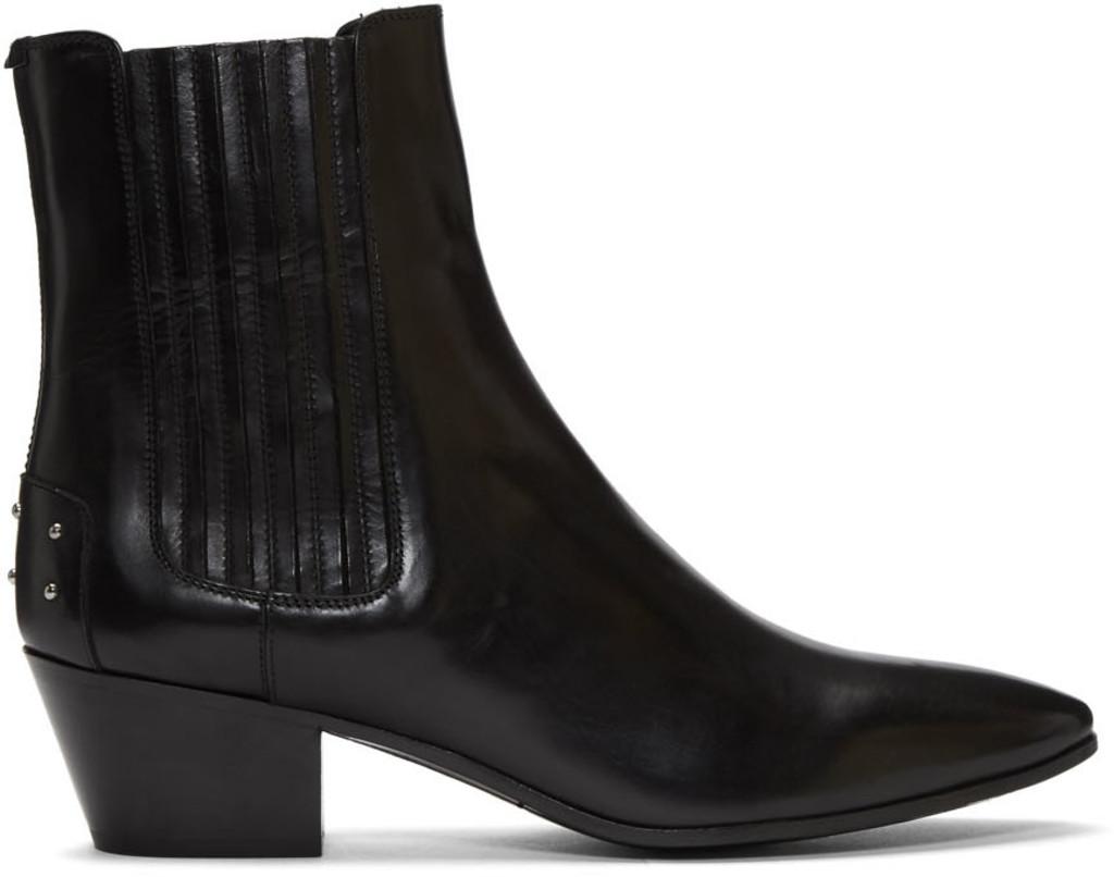 8527fec4f71 Black Studded West Boots