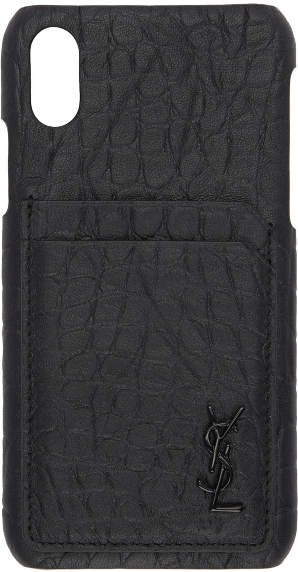b786f78ec41 Black Croc Monogramme iPhone XS Case