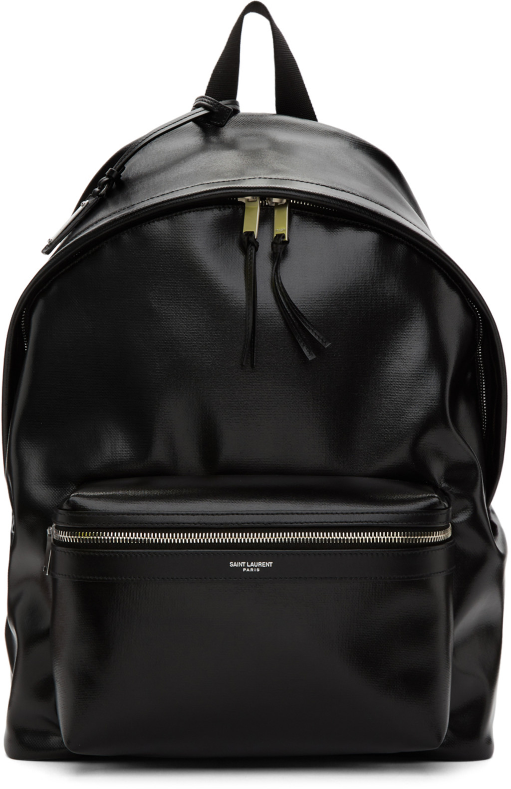 698a19d256 Black Coated Canvas City Backpack