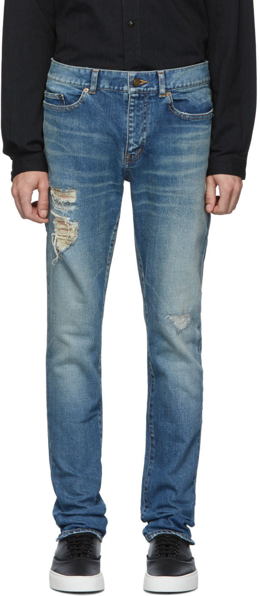 1d5cf5eb15 Blue Distressed Skinny Jeans