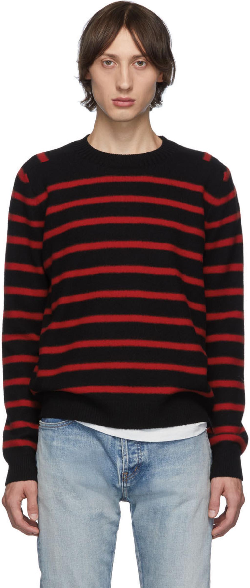 440fd0d5e5 Black & Red Striped Sweater