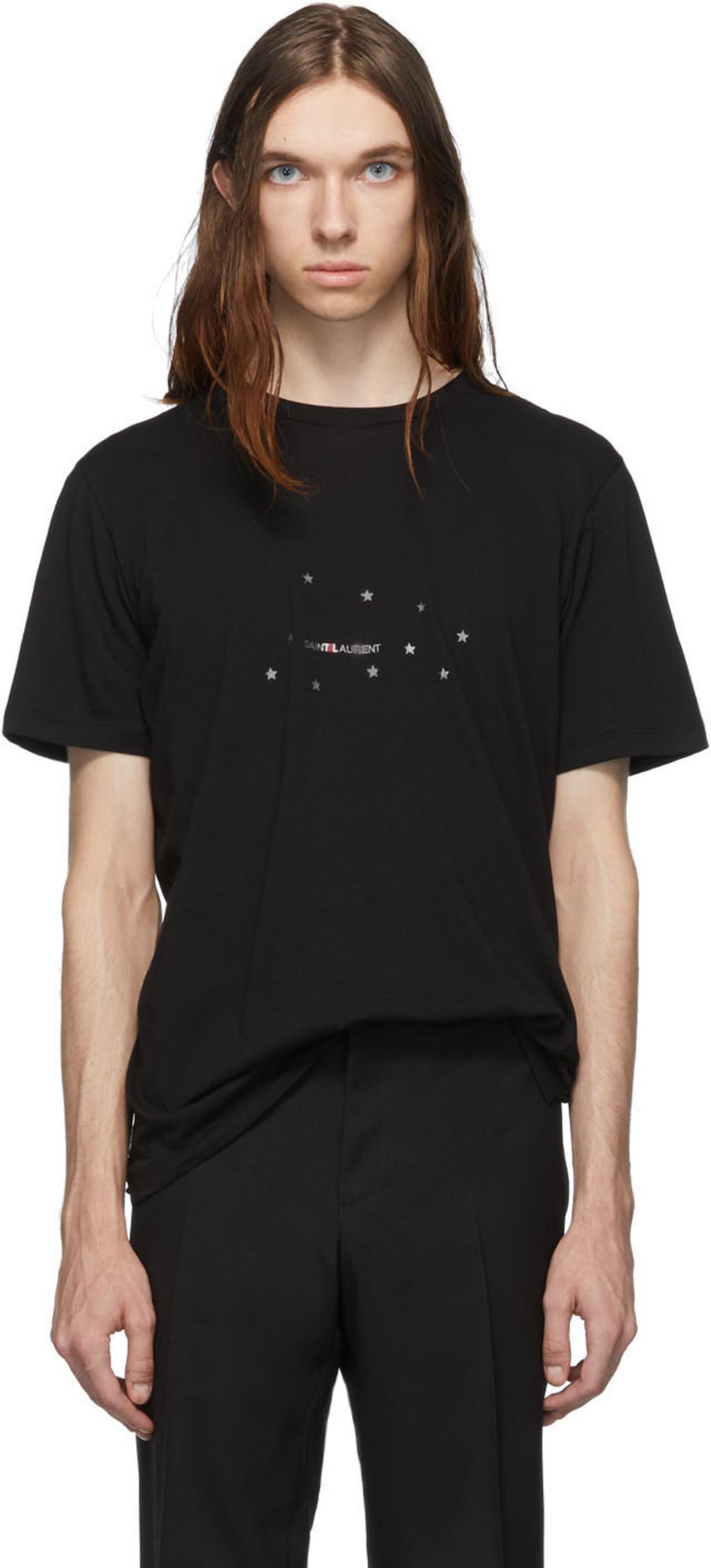 33e7e801 Black Stars Rive Gauche Logo T-Shirt