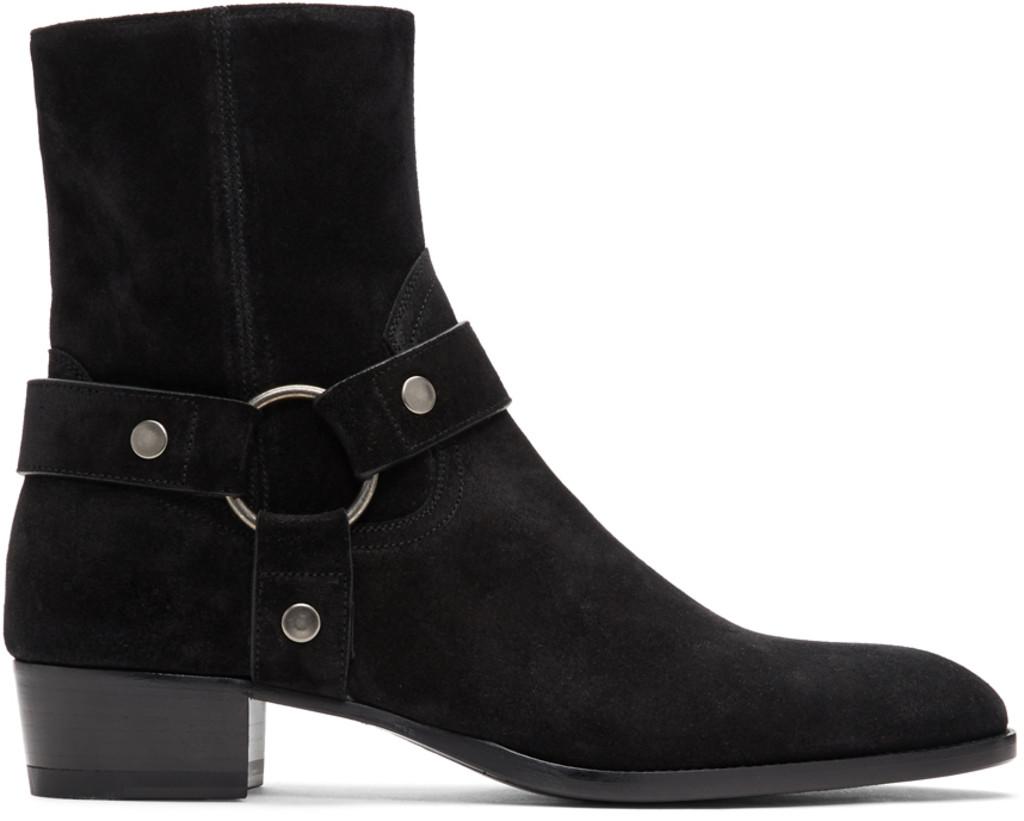 48b75da6ee Black Wyatt Harness Boots