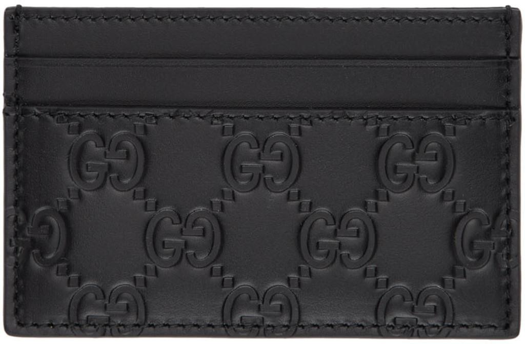 ed496c069c Black 'Gucci Signature' Card Holder