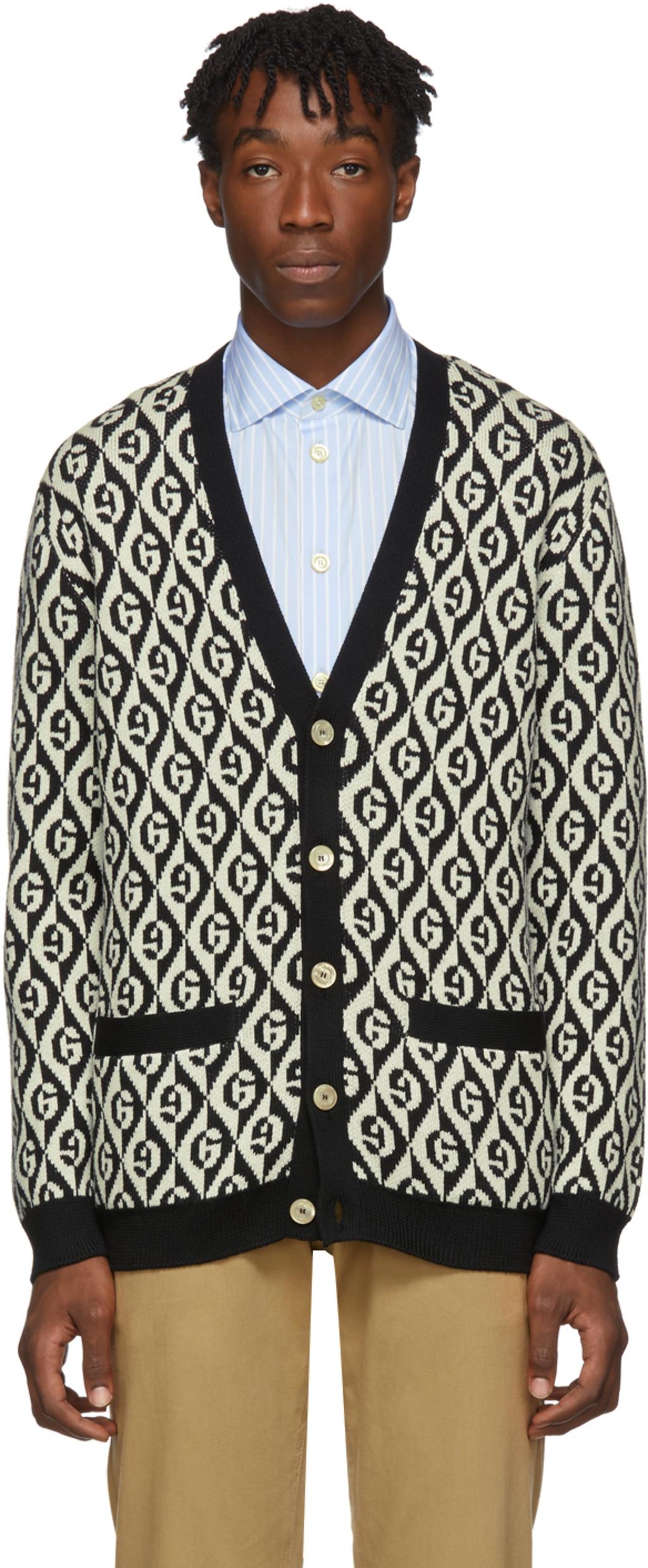 740cbd93 Black & White G Rhombus Cardigan