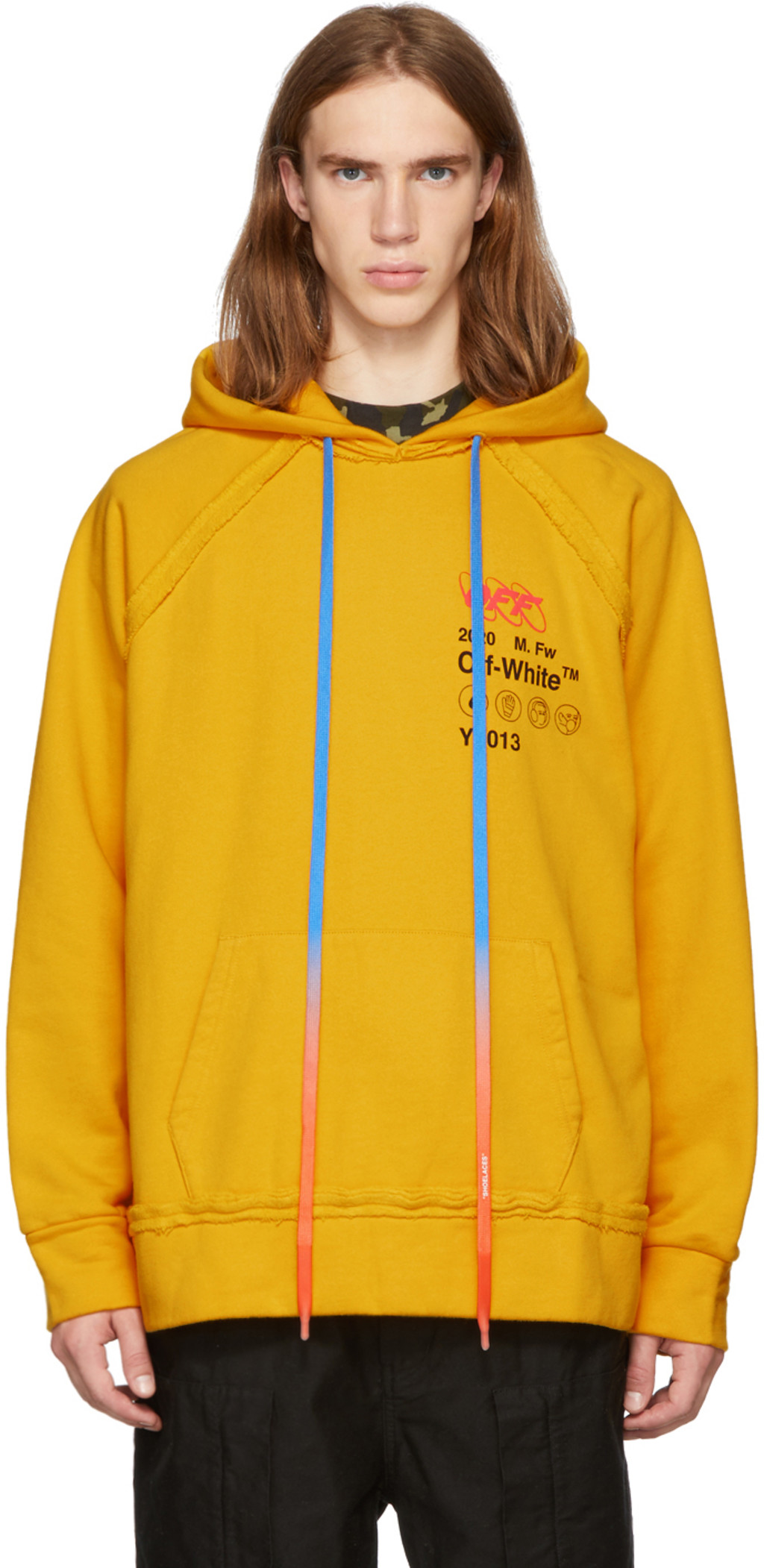 4cb4d58a66d Yellow Industrial 'Y2013' Incomplete Hoodie