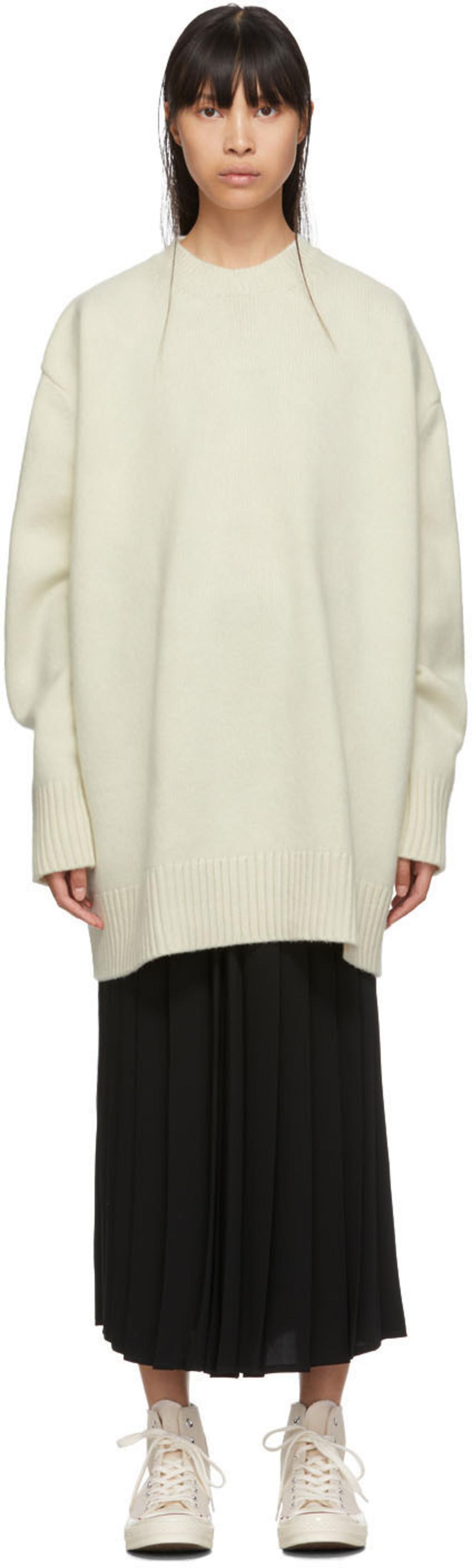 f980ee995b Beige Oversized Yocto Sweater