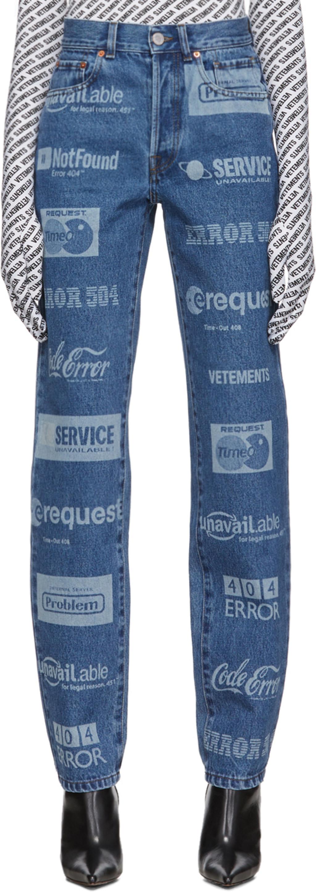 c4c3aae9 Blue Fully Branded Jeans