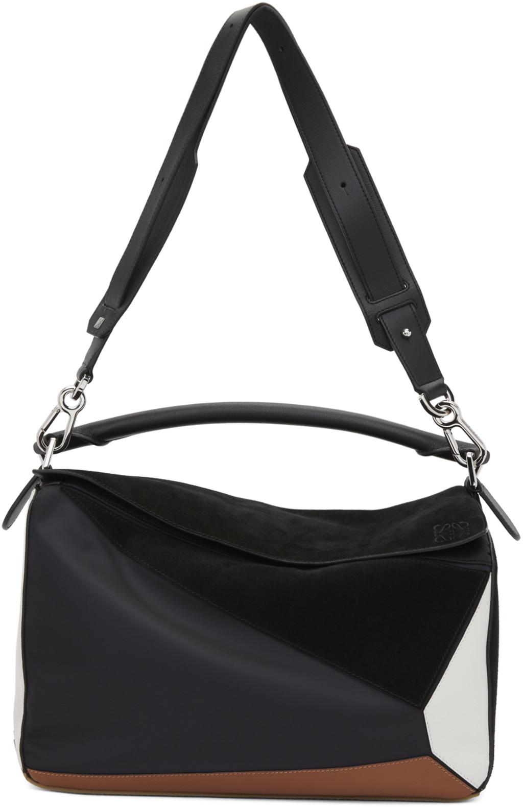 e8e28cf9c4d Black Large Puzzle Trainers Bag