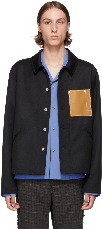 17c7e8b0e7 Black Wool Button Jacket