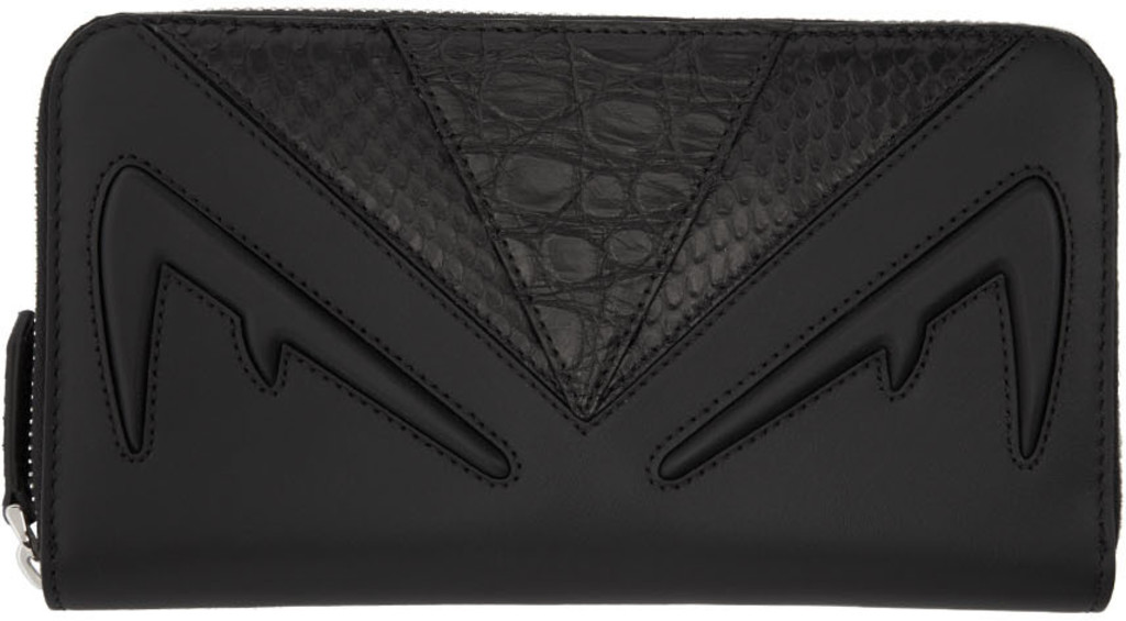 5d3768b4 Black Bag Bugs Zip Around Continental Wallet