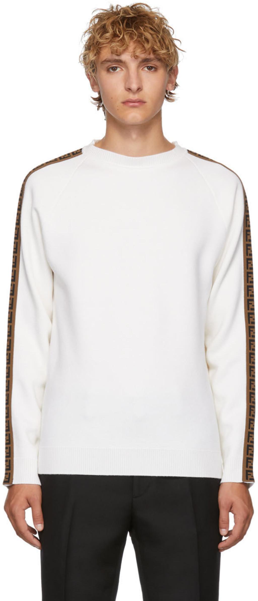 d75d2ef3 White 'Forever Fendi' Sweater