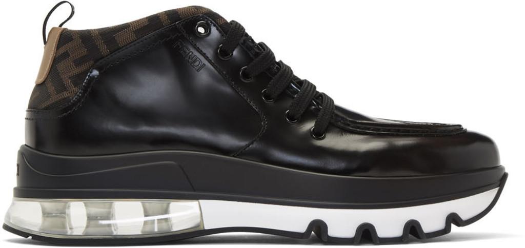 cf3bcd4668 Black 'Forever Fendi' Hybrid Hiker Boots