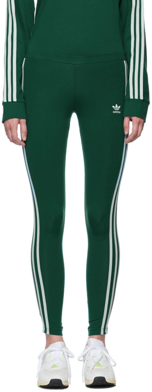 Green 3 Stripes Leggings