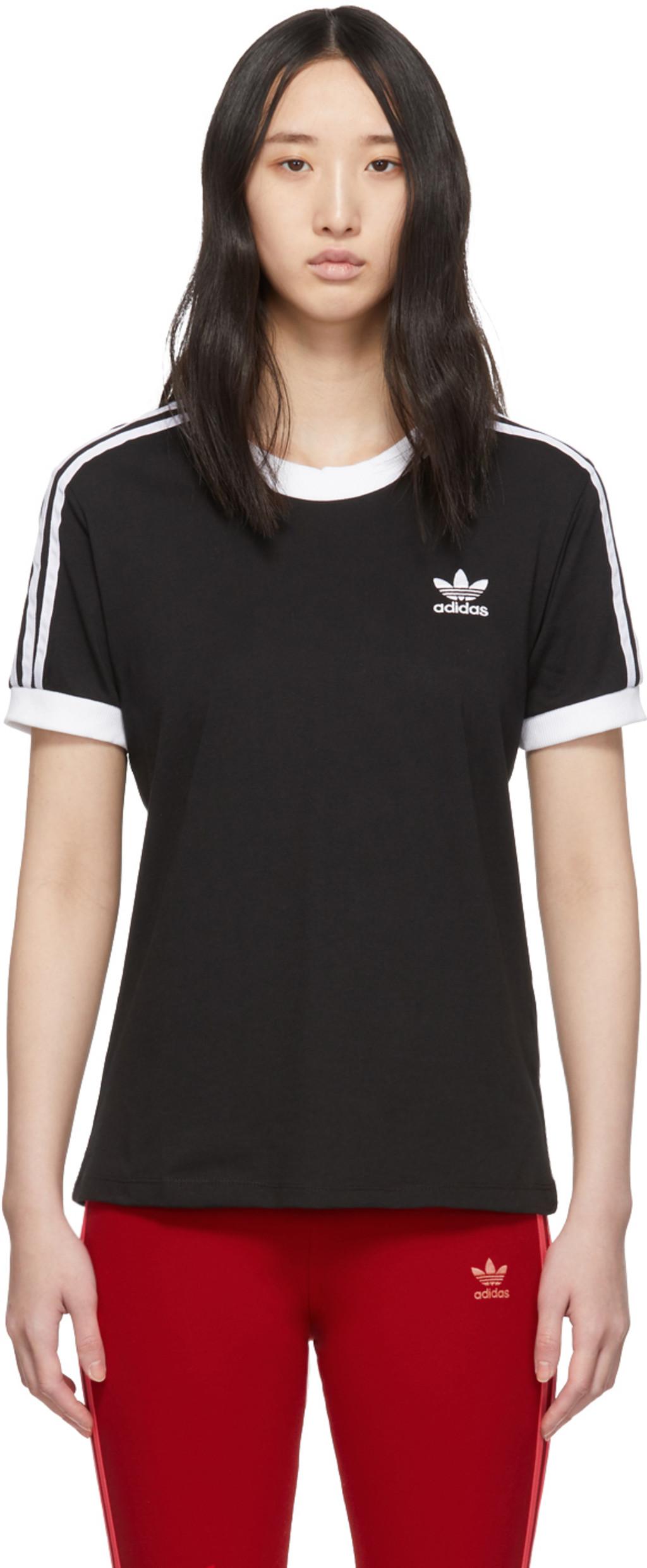 03739abc65 Black 3-Stripes T-Shirt