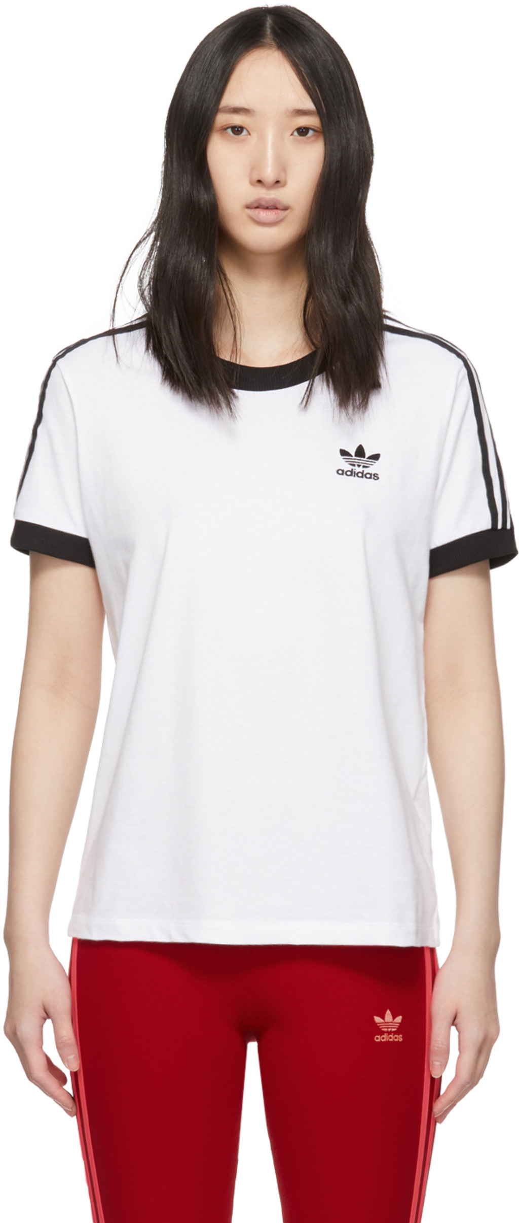 cd65a6190a White 3-Stripes T-Shirt