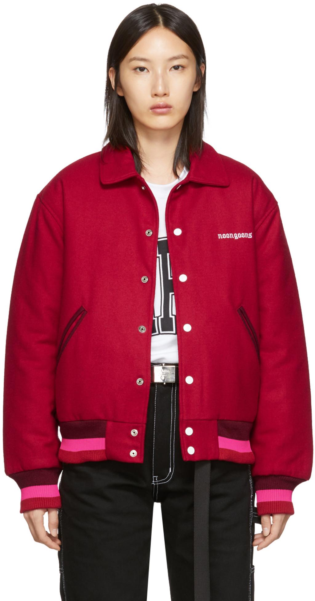 22a389eb0 Red Old English Varsity Jacket