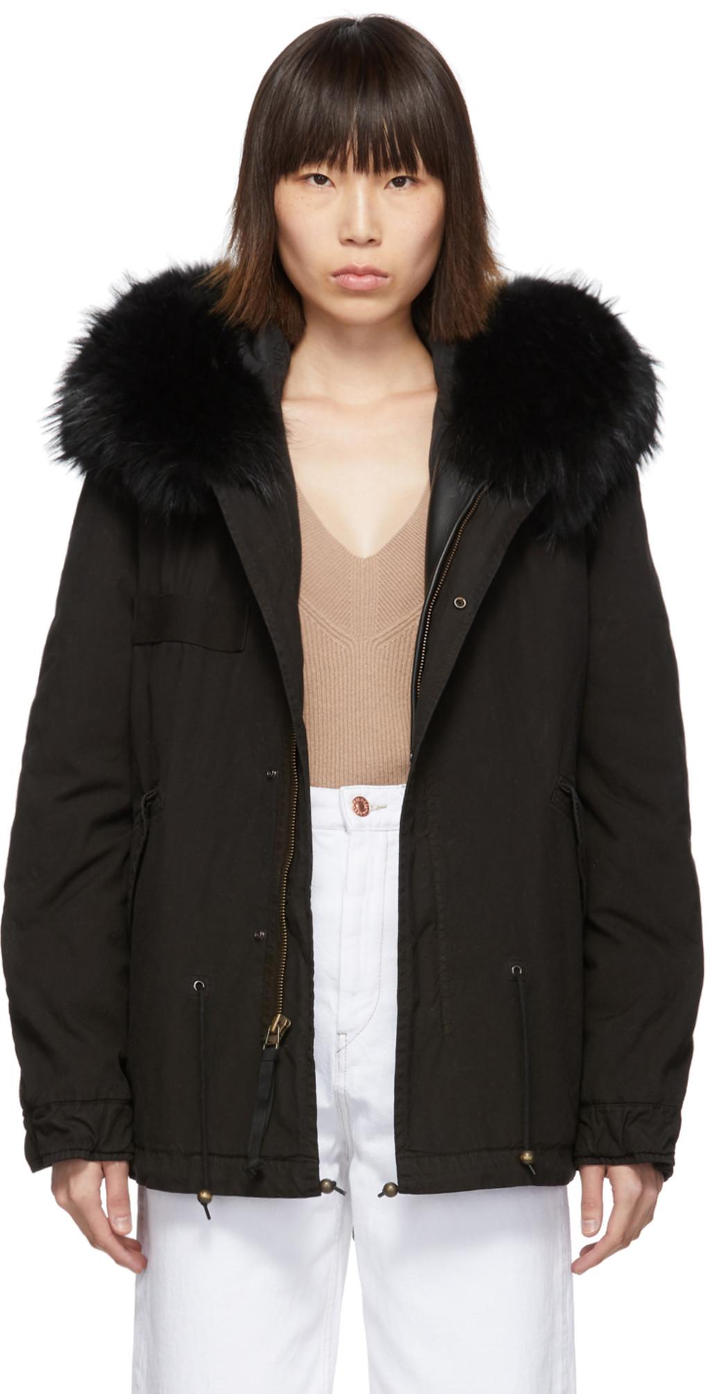 83514c719 Black Mini Fur Army Parka