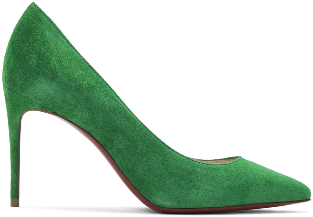 5ea555522fc Green Velour Suede Kate 85 Heels