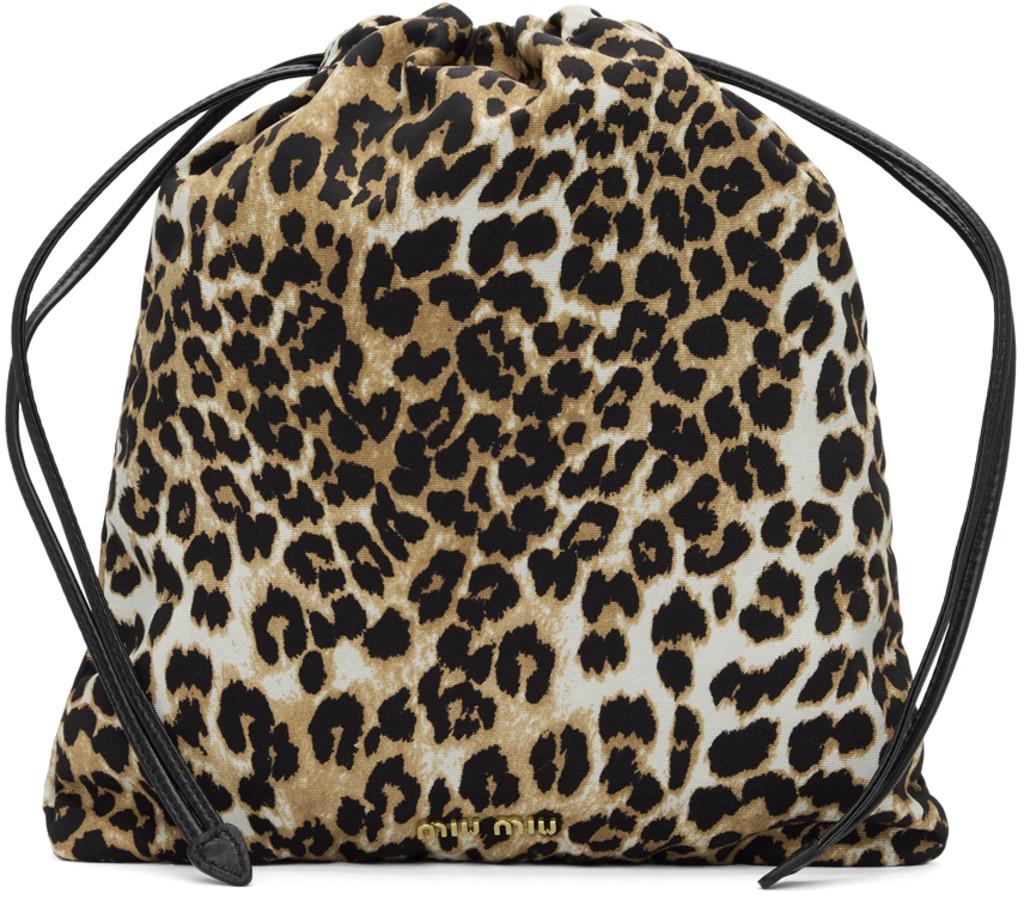 78a374743da Multicolor Leopard Drawstring Pouch